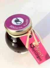 Confiture  d'hibiscus à la vanille bourbon 110g