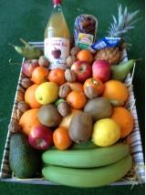 Corbeille de fruits Bio à offrir et produits du terroir