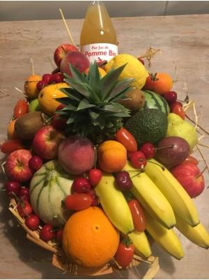 Corbeille de fruits Bio à offrir