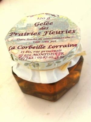 Gelée de prairies fleuries 120g(accompagner foie gras)