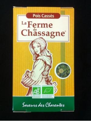 Pois cassés verts Bio Ferme de Chassagne -500g