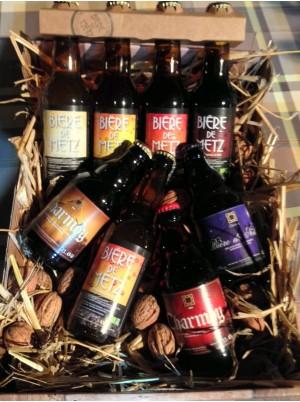 Coffret cadeau 8 bières artisanales de Lorraine