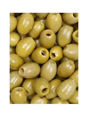 Pot d'olives vertes dans huile aux herbes dénoyautées Bio de Grèce- 200g