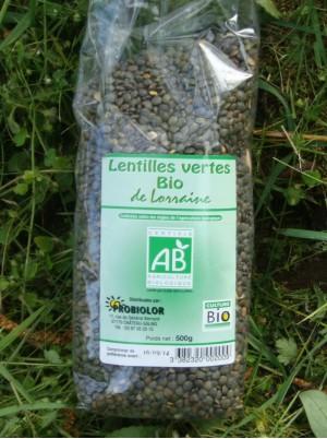 Lentilles vertes Bio de Lorraine -500g