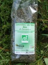 Lentilles vertes Bio de Lorraine -600g