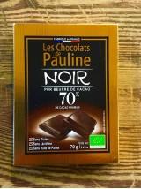 Chocolat noir Bio 70% de cacao-70g