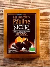 Chocolat Noir Bio 70% de cacao avec écorces d'orange-70g
