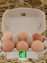 6 oeufs frais Bio d'Alsace
