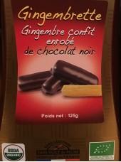 Gingembrettes enrobées de chocolat noir Bio-125g