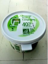 Fromage frais de Campagne Bio 40% Alsace