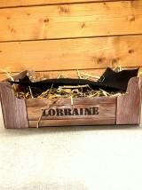 """Emballage coffret cadeau :Cagette carton imitation bois logo """"Lorraine"""""""