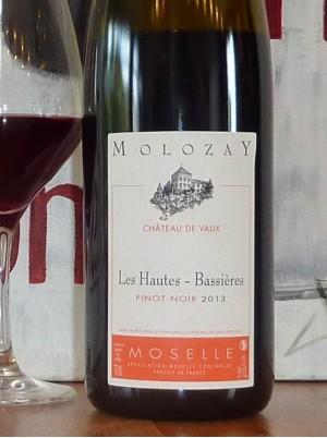 Pinot Noir  Hautes Bassières Château de Vaux  -75cl