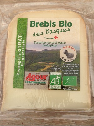 Fromage de Brebis Bio des Basques - portion env 180g
