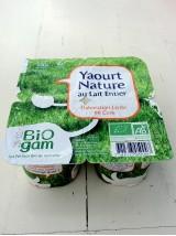 Yaourt Nature lait entier Bio